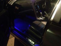New blue LED Footwells