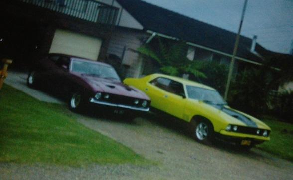 My 73 XBGT Coupe and Dads 76 XBGT sedan.jpg